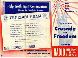 Crusade for Freedom - Message urging Americans to send Freedom-Grams through the Crusade