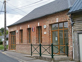 The town hall in Fricamps