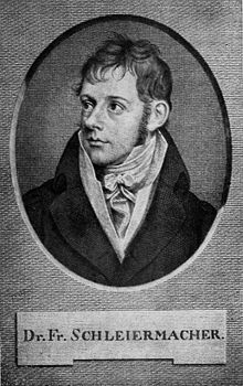 An engraving of Schleiermacher from his early adulthood. (Source: Wikimedia)