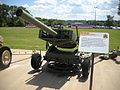 Front view of an XM70E2 towed rocket launcher.jpg