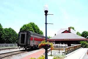 Frostburg, Maryland - A Western Maryland train at Frostburg station in 2011.