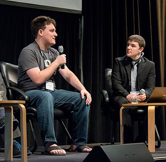 Palmer Luckey - Palmer Luckey during a panel discussion at SVVR 2014.