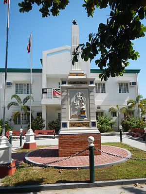 Simón de Anda y Salazar - Simón de Anda y Salazar monument and marker (Bacolor, Pampanga Town hall)