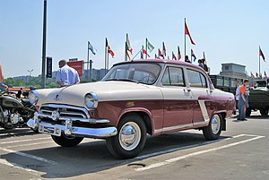 GAZ Volga - The first generation cars featured a characteristic grille with a star emblem, that gave the car its nickname. The construction proved to be time-consuming to manufacture and deterred potential foreign customers, thus lasting less than two years on the assembly line