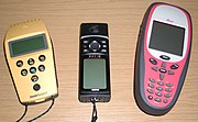 GPS receivers come in a variety of formats, from devices integrated into cars, phones, and watches, to dedicated devices such as those shown here from manufacturers Trimble, Garmin and Leica (left to right).