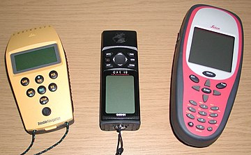 GPS receivers come in a variety of formats, from devices integrated into cars, phones, and watches, to dedicated devices such as these. GPS Receivers.jpg
