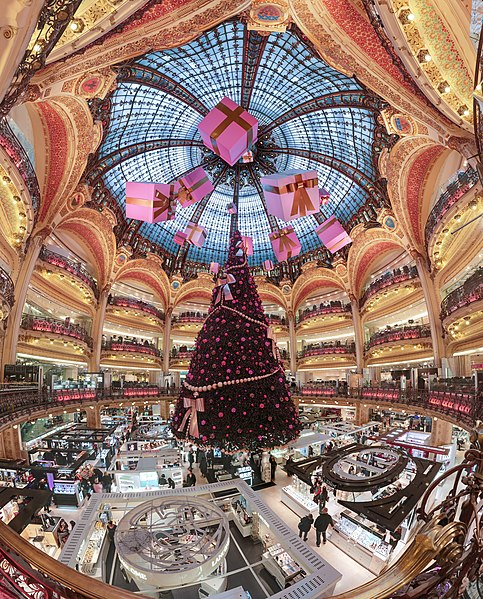 File:Galerie Lafayette Haussmann Dome.jpg