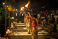 Ganga Aarti in evening at Dashashwamedh ghat, Varanasi 5.jpg