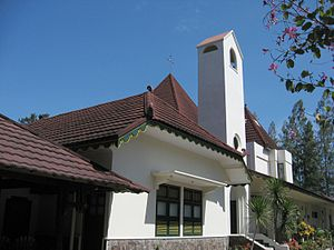 Albertus Soegijapranata - The parish church in Ganjuran, which Soegijapranata served concurrently with Bintaran