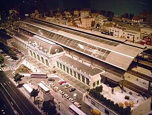 Gare des Brotteaux - Reconstruction of the current Gare des Brotteaux, at the Musée du train miniature, in Châtillon-sur-Chalaronne