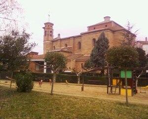 Alcanadre - A park beside a church, Alcanadre