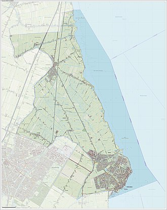 Edam-Volendam - Dutch Topographic map of the municipality of Edam-Volendam, January 2016.