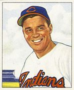 Gene Bearden, starting pitcher in the game for the Cleveland Indians