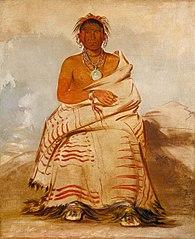 L'har-e-tar-rúshe, Ill-natured Man, a Skidi (Wolf) Pawnee