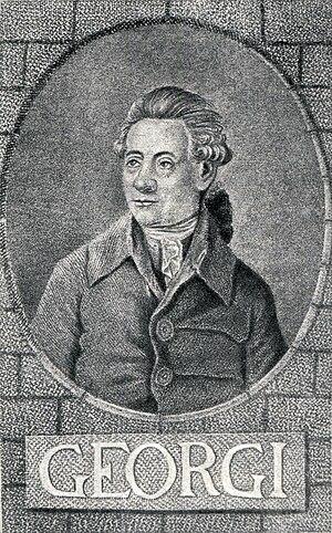 Johann Gottlieb Georgi - Johann Gottlieb Georgi.