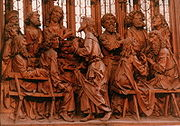 The Last Supper from the Heilig-Blut-Altar by Tilman Riemenschneider in St-Jakobskirche, Rothenburg ob der Tauber, Germany.