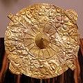 Ghana, akan, disco dell'anima akrafokonmu, oro, xx secolo.jpg