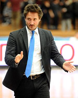 Gianmarco Pozzecco - Pozzecco coaching Orlandina Basket in 2013.