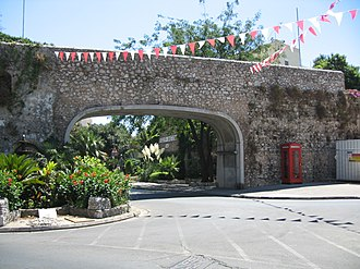 1967 Gibraltar sovereignty referendum - Image: Gibraltar Referendum Gates (Southport Gates) 03