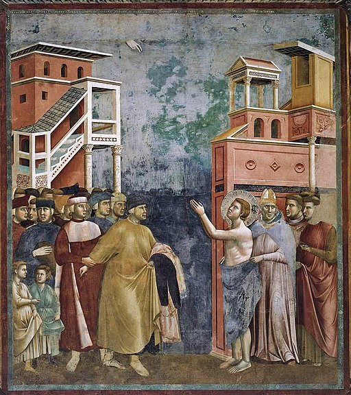 Giotto di Bondone - Legend of St Francis - 5. Renunciation of Wordly Goods - WGA09123