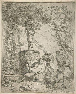 Terminalia - The Feast Before the Altar of Terminus by Giovanni Benedetto Castiglione (1642)