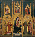 Giovanni di Pietro da Pisa - Altarpiece of the Virgin with Saints Agatha, Stephen, Francis and a Martyr Saint - Google Art Project.jpg