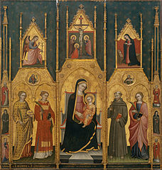 Altarpiece of the Virgin with Saints Agatha, Stephen, Francis and a Martyr Saint