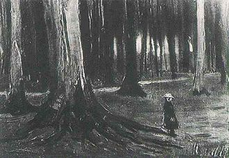 Paintings of Children (Van Gogh series) - Girl in the Woods, 1882, Private Collection (F8a)