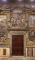 Girolamo Siciolante da Sermoneta, Pipino III dei Franchi, vincitore di re Astolfo, dona Ravenna e la Pentapoli a papa stefano II, 1565-68, 00.jpg