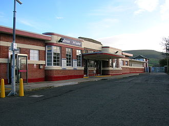 Girvan railway station - The exterior of Girvan station