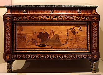Antique Furniture & Wooden Sculpture Museum - Image: Giuseppe maggiolini, cassettone intarsiato, 1780 85