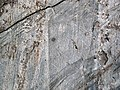 Glacial striations from Pleistocene glaciation on Mud Lake sequence sedimentary rocks (Neoarchean; Bourgin Road roadcut, Virginia, Minnesota, USA) 4 (23472958896).jpg