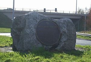 N8 road (Ireland) - Commemorative plaque marking the opening of the Glanmire Bypass in 1992, located at the Dunkettle Interchange, Cork.
