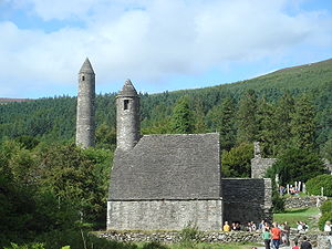 History of Ireland - Kevin's monastery att Glendalough, County Wicklow