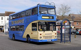 Go Whippet - Northern Counties Palatine bodied Volvo B10M in St Neots in March 2012