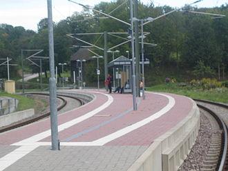 Kraich Valley Railway - Gochsheim station after its reconstruction as a crossing station
