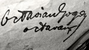 Octavian Goga - Image: Goga signature
