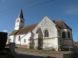 The church in Goincourt