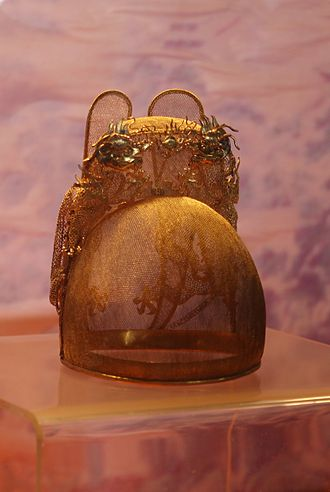 Wanli Emperor - Golden crown (replica) excavated from Dingling tomb