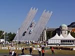The Ford Central Display at the 2003 Goodwood Festival of Speed. Designed by Gerry Judah