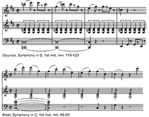 Symphony in C (Bizet) - An example of Bizet's quoting Gounod