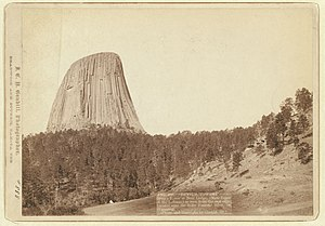 Bear Lodge Mountains - Devils Tower, 1888