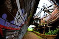 Graffiti below Carrie Furnaces, Rankin PA (8908291526).jpg