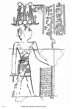 Graffito of Esmet-Akhom - Image: Graffito of Esmet Akhom, drawing, 01