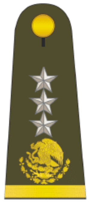 Army ranks and insignia of Mexico - Image: Gral division