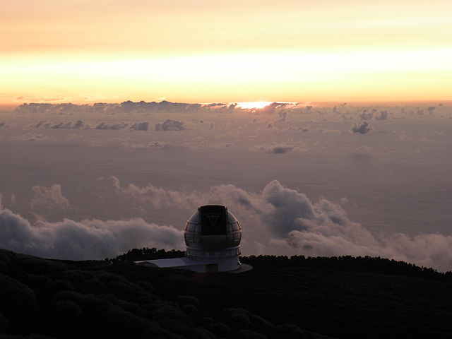 GTC over a cloud deck at sunset
