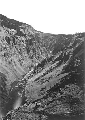 Grand Canyon of the Yellowstone - Image: Grand Canyonofthe Yellowstone Jackson 1871