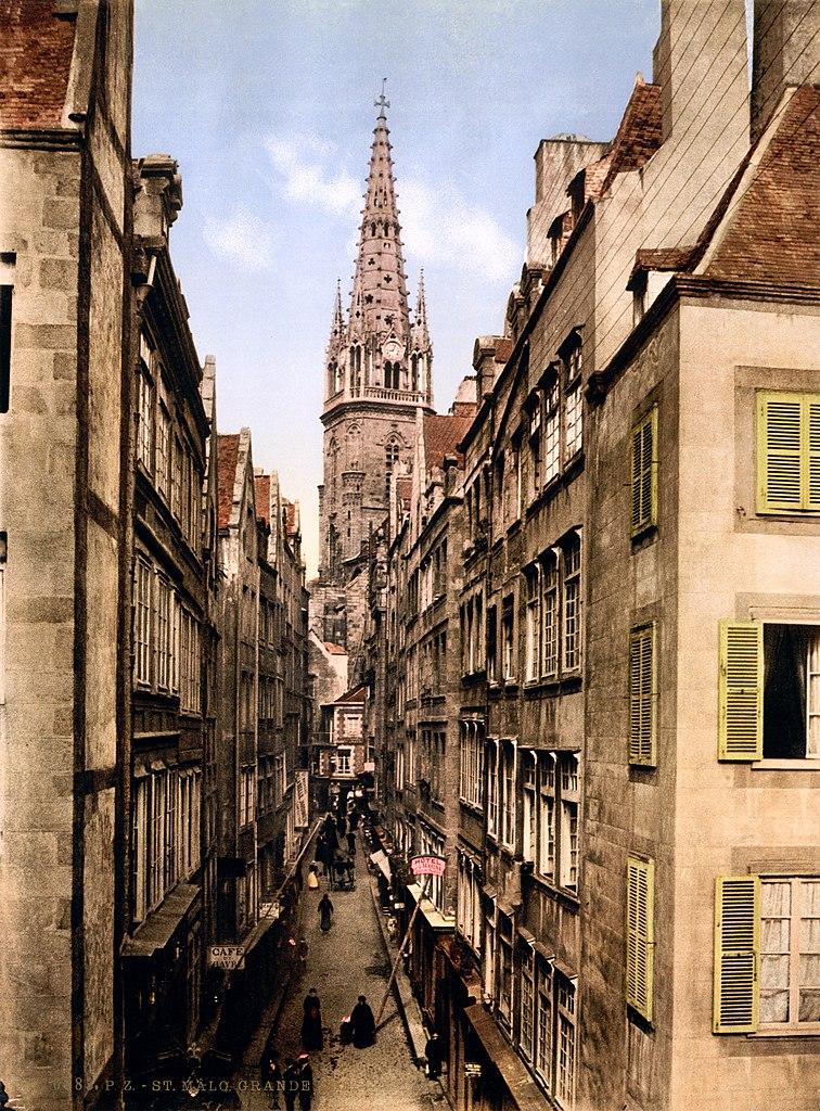 File grande rue saint malo brittany france ca 1899 for B b saint malo