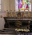 Grandvilliers (Oise), church Saint-Gilles, the main altar.JPG
