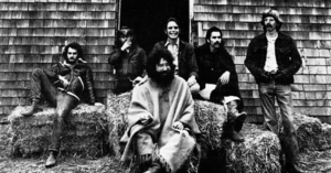 "The Grateful Dead in 1970, from a promotional photo shoot. Left to right: Bill Kreutzmann, Ron ""Pigpen"" McKernan, Jerry Garcia, Bob Weir, Mickey Hart, Phil Lesh."